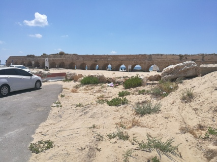 Roman aqueduct at the Mediterranean