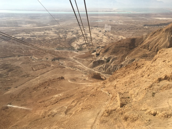 The gondola down Masada