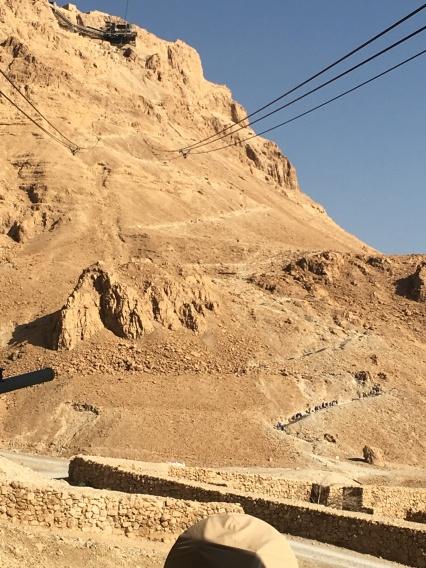 The gondola up Masada