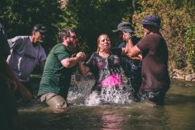 Holding my breath in the Jordan River.