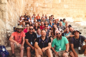 Gang's all here...near the Western Wall, Jerusalem.