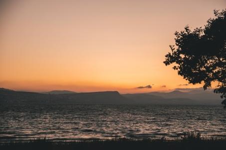 Sea Of Galilee, toward Mt. Arbel